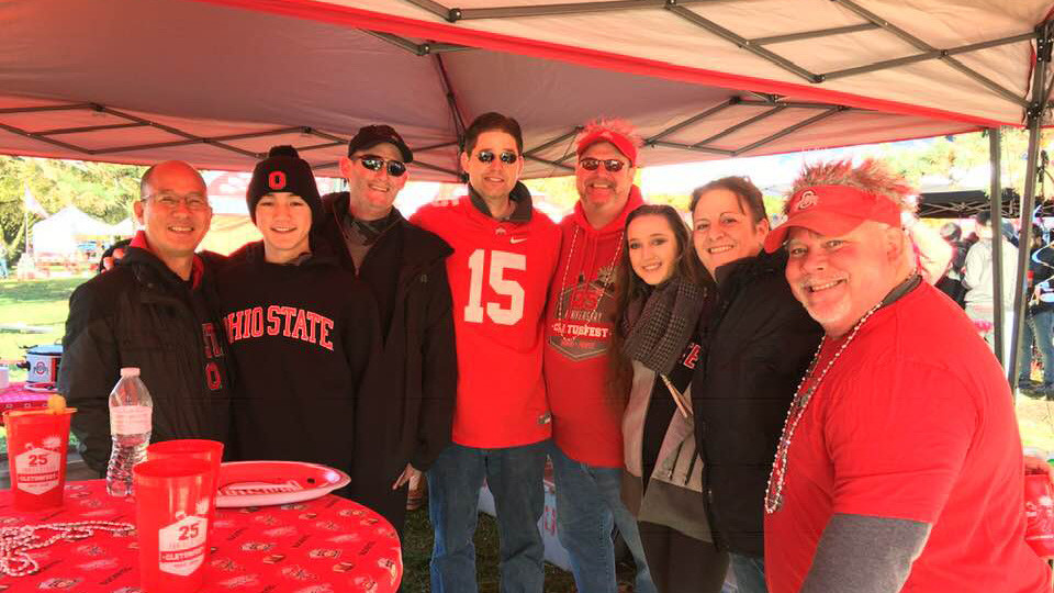 Tailgate photo of people